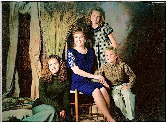 Anne and her children, Heather, Stephanie, and Joshua