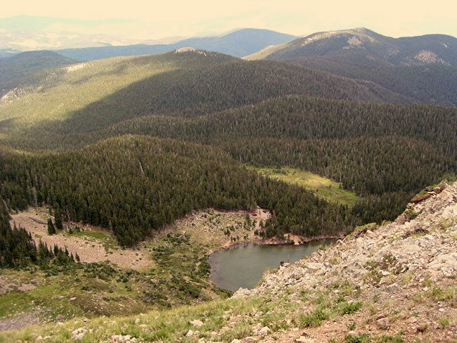 Goose Lake from the top of the cliffs