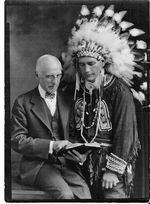Clarence Cowper Waller and man in indian costume