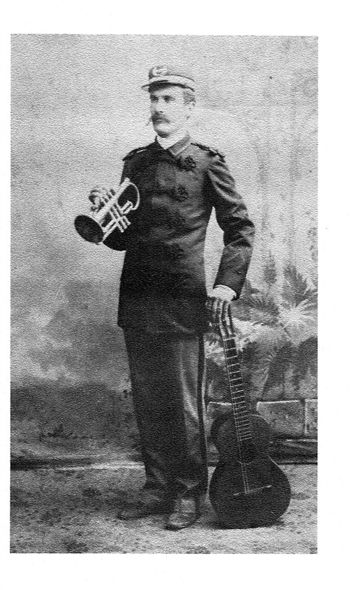 Clarence Cowper Waller in the 1800's.  His family was musically talented.