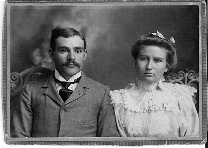 George Beavers with his wife Stella White Beavers
