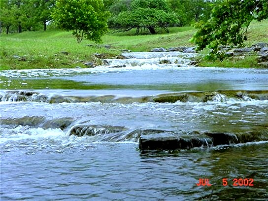 [Bingham Creek at Lucky Hit Ranch, Leander, Texas - July 5, 2002]