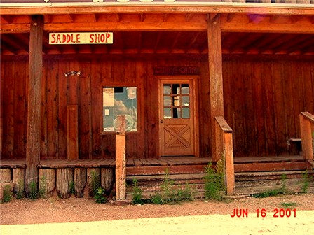 Frank Conard's Saddle Shop, in which he worked 6 1/2 days a week until he was 80!