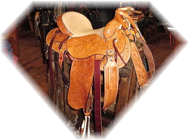 Saddle made by Frank Conard at his Rafter B Saddle Shop